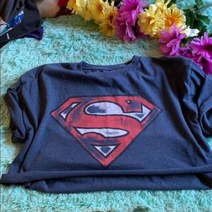 Tops - 5 for 20❗️❗️ vintage Superman crop top